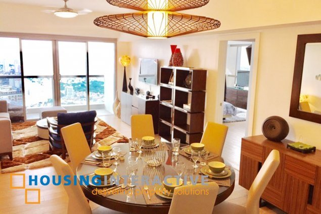 Fully Furnished 3-Bedroom unit for Sale in One Shangri-La Place