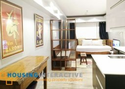 Fully Furnished Studio unit for rent at The Columns Ayala