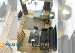 FULLY FURNISHED 1-BEDROOM LOFT UNIT FOR RENT IN ONE ROCKWELL