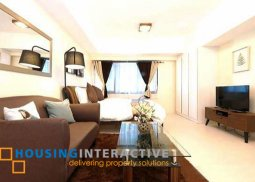 FULLY FURNISHED STUDIO UNIT FOR LEASE IN ICON PLAZA BGC