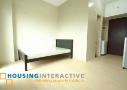 SEMI FURNISHED STUDIO UNIT FOR LEASE IN RIVER GREEN RESIDENCES MANILA