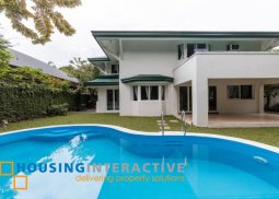 BARE LUXURIOUS 2-STORY, 4-BEDROOM HOUSE FOR RENT IN AYALA ALABANG VILLAGE