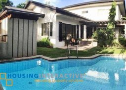 SEMI-FURNISHED 2-STOREY, 4-BEDROOM CLASSICAL HOUSE FOR SALE IN AYALA ALABANG VILLAGE