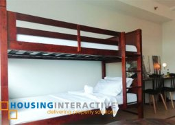 FULLY FURNISHED STUDIO UNIT FOR RENT IN STUDIO A KATIPUNAN