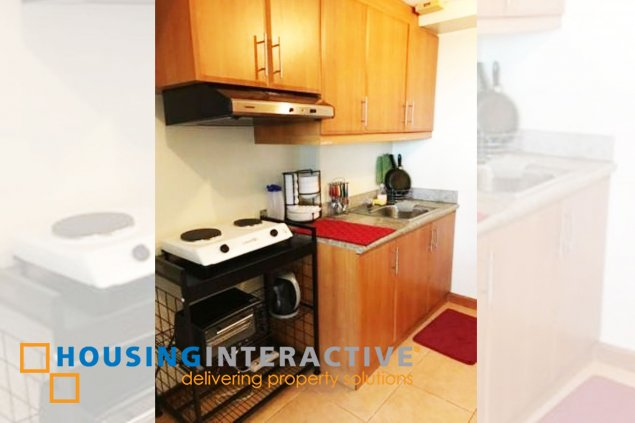 FULLY FURNISHED 1 BEDROOM LOFT UNIT FOR LEASE IN MCKINLEY PARK RESIDENCES