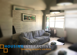 FULLY FURNISHED 2-BEDROOM BI-LEVEL UNIT FOR RENT IN THE COLUMNS LEGAZPI