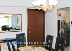 TIMELESS FULLY FURNISHED 3-BEDROOM UNIT WITH BALCONY FOR SALE/RENT IN PARKSIDE VILLAS