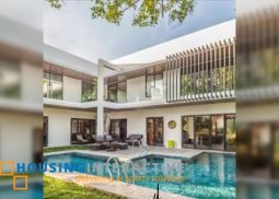 LUXURIOUS SEMI-FURNISHED 2-STOREY, 5-BEDROOM HOUSE WITH POOL FOR SALE IN AYALA ALABANG VILLAGE