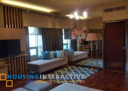 FULLY FURNISHED 3-BEDROOM UNIT WITH BALCONY FOR RENT IN THE RESIDENCES AT GREENBELT