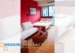 FULLY FURNISHED STUDIO UNIT WITH BALCONY FOR SALE/RENT IN KNIGHTSBRIDGE RESIDENCES