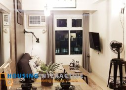 FULLY FURNISHED 1BR UNIT FOR SALE IN THE TRION TOWERS BGC