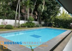 LUXURIOUS FULLY FURNISHED 2-STOREY, 5-BEDROOM HOUSE WITH POOL FOR RENT IN AYALA ALABANG VILLAGE
