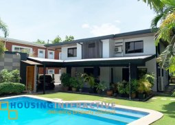 SEMI-FURNISHED 2-STOREY, 5-BEDROOM HOUSE WITH POOL FOR RENT IN DASMARIÑAS VILLAGE