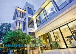 MINIMALIST 3-STOREY, 4-BEDROOM HOUSE WITH POOL FOR SALE IN SAN LORENZO VILLAGE