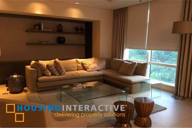 FULLY FURNISHED 3-BEDROOM UNIT FOR RENT IN ONE ROXAS TRIANGLE