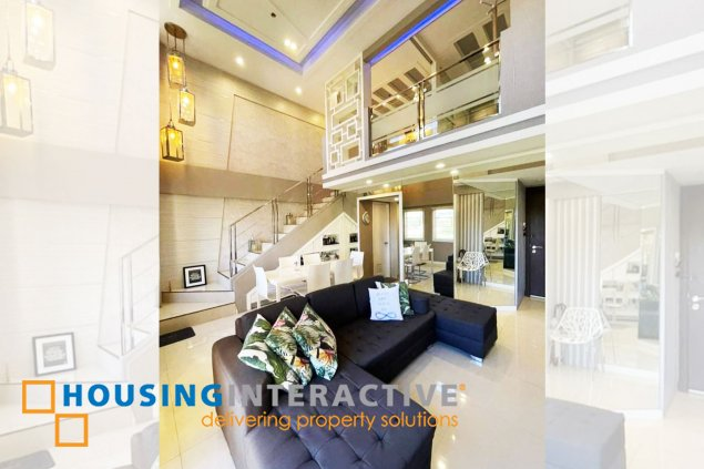 LUXURIOUS 2-BEDROOM LOFT UNIT WITH BALCONY FOR RENT IN TUSCANY PRIVATE ESTATAES