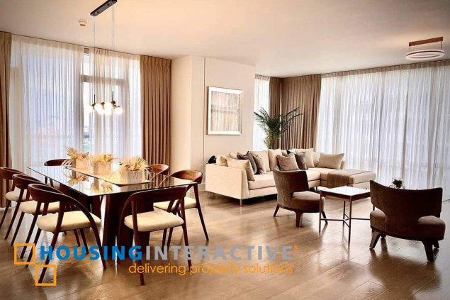 FULLY FURNISHED 3-BEDROOM UNIT WITH BALCONY FOR RENT IN PROSCENIUM AT ROCKWELL