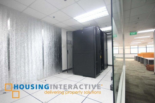 Fitted office space for lease in Ortigas