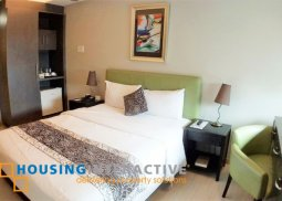 Fully furnished studio unit for sale at The Exchange Regency Residence Pasig