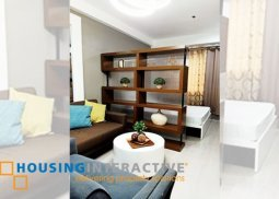 FULLY FURNISHED STUDIO UNIT FOR SALE AT SOUTH OF MARKET TAGUIG